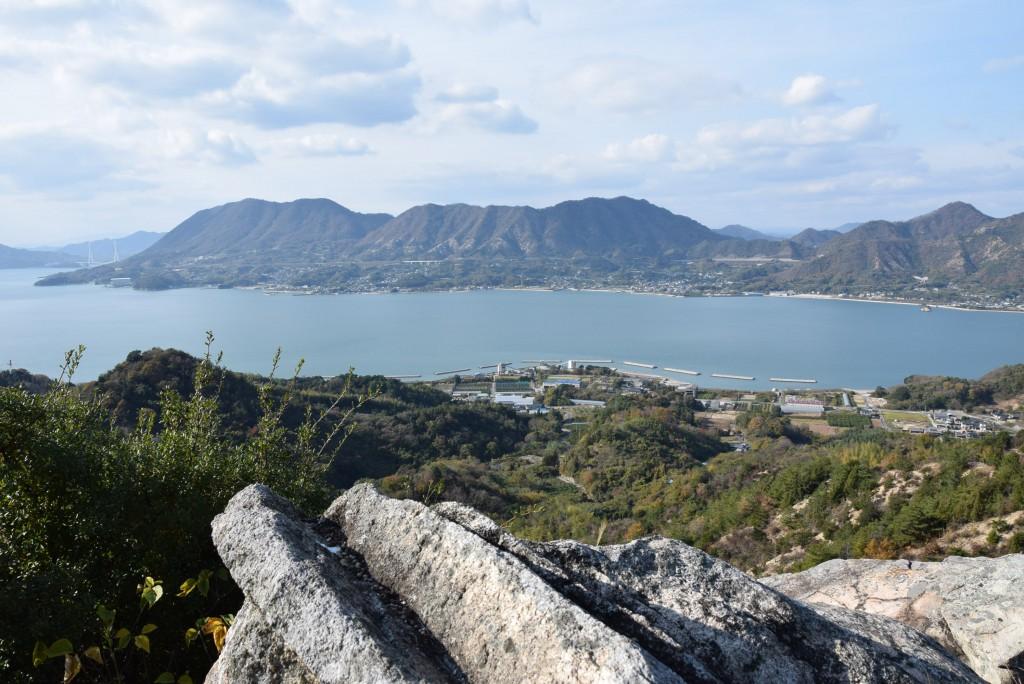 積善山空中階段コースより生口島(瀬戸田)をのぞむ。
