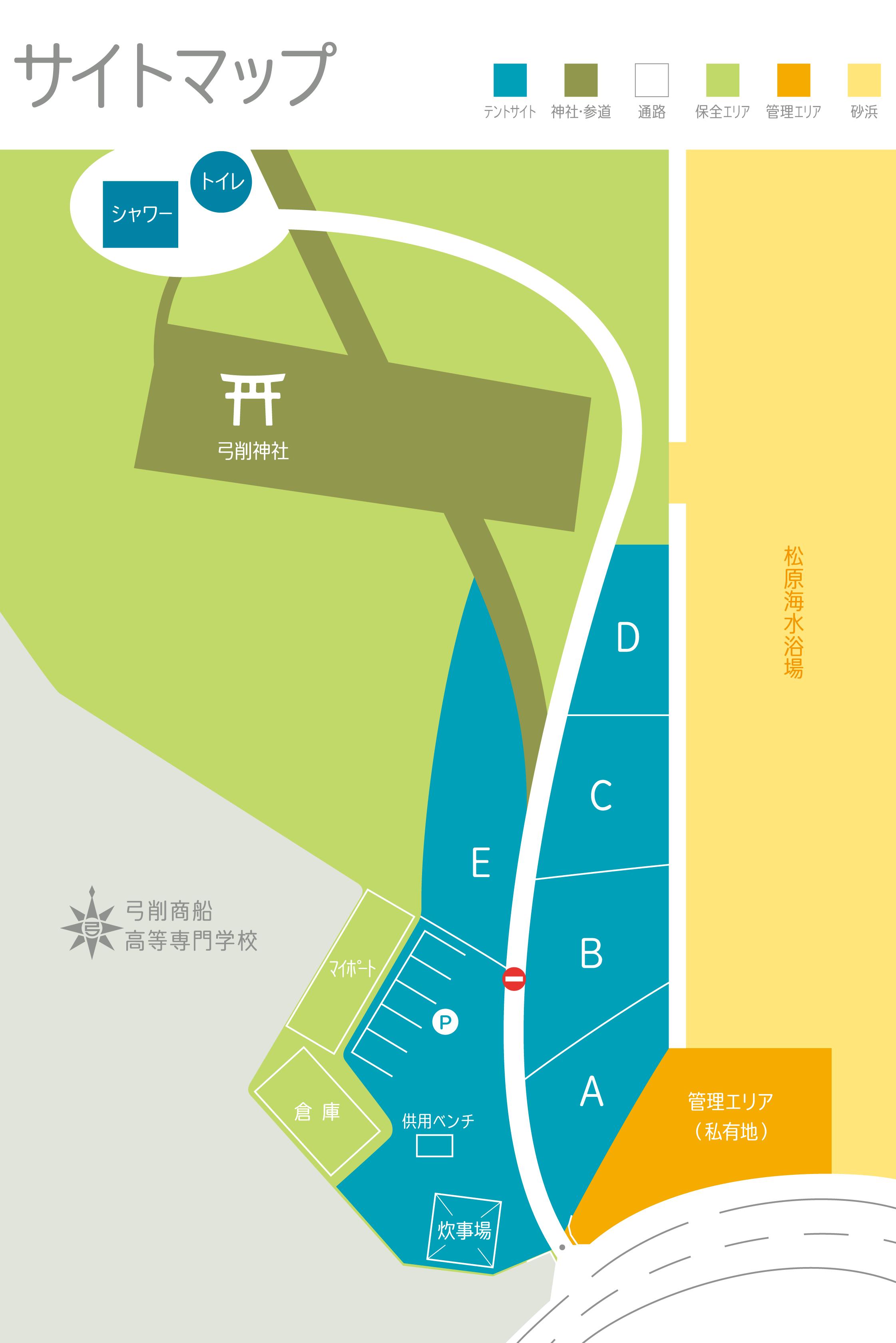 ファミリーキャンプサイトマップ